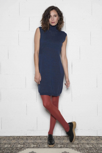 Dress 100% pure extrafine wool merino treated cashwool