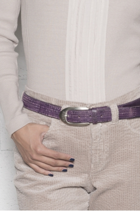 Plaited Belt 100% leather glitter