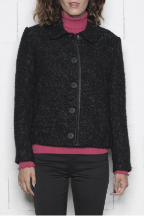 Coat  23% acrylique 21% cotton 12% alapga 12% mohair 12%polyamide 10% wool 10% polyester