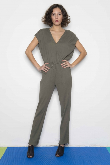 Jumpsuit seersucker 100% cotton