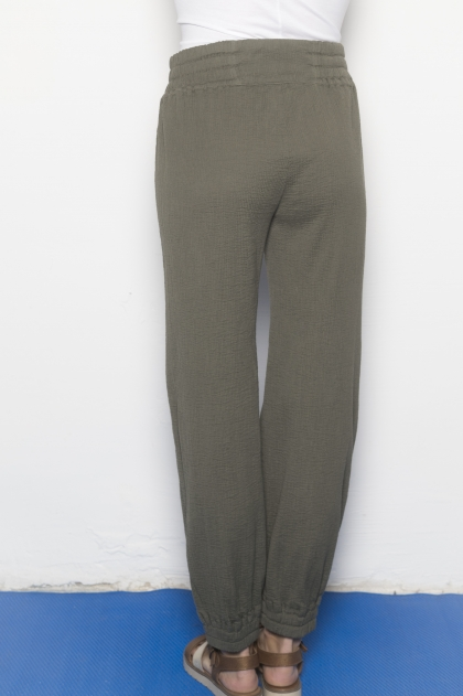 Trousers seersucker 100% cotton