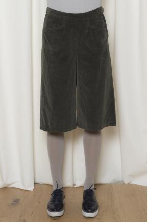 Velvet skirt panties fine rib 100% cotton