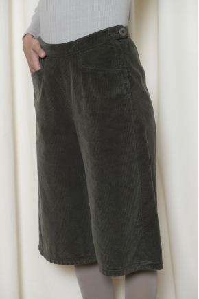 Jupe culotte velours côtelé 100% coton