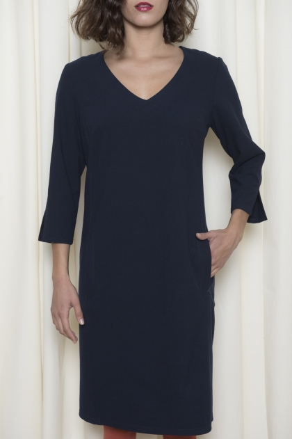 Robe flanelle 65% polyster 30% viscose 5% elasthanne