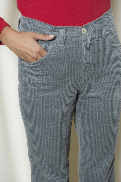 Pants large ribs 100% cotton