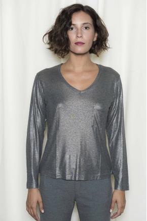 Jersey T-shirt female glittery 96% viscose 4% elastane