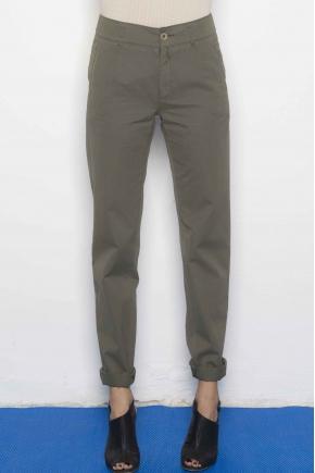 Pantalon en Fine gabardine used 100% Coton