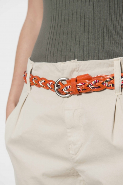 """Belt """"6 strands"""" 100% leather"""