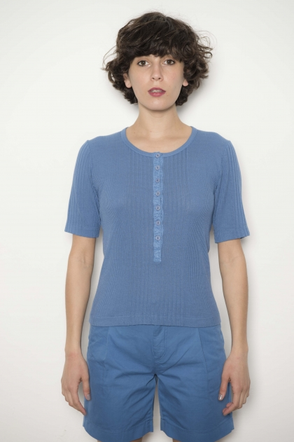 100% viscose 15% silk blend tee-shirt