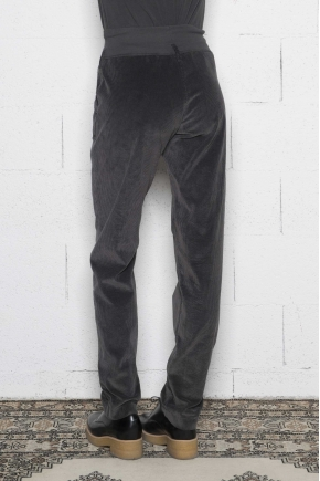 Pantalon jogging en velours