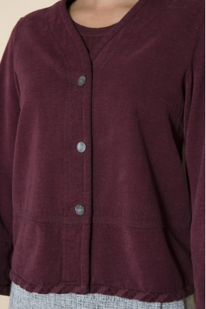 Chenille jacket 100% cotton
