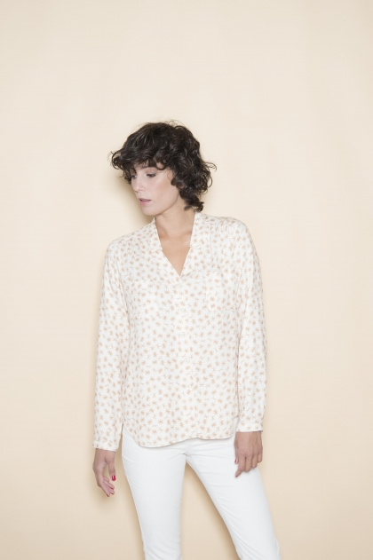 Printed blouse 100% viscose