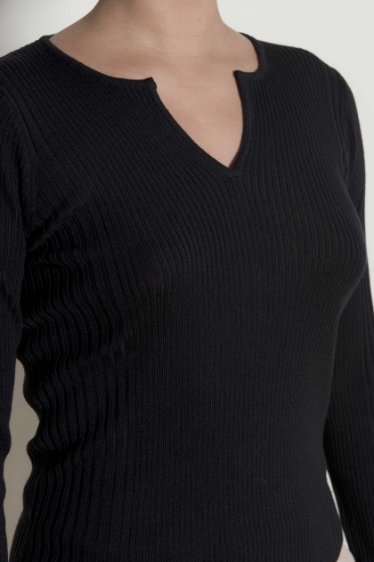 Ribbed sweater 100% Pure wool