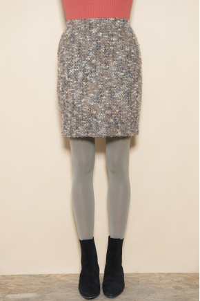 Mini tweed skirt 68% wool 25% mohair 7% acrylic