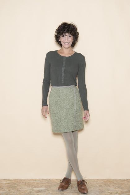 Skirt tweed 80% wool 19% polyamide 1% elastane