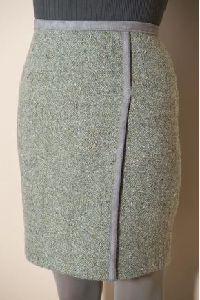 Skirt tweed 80% wool 19% polyamide 1% elastane