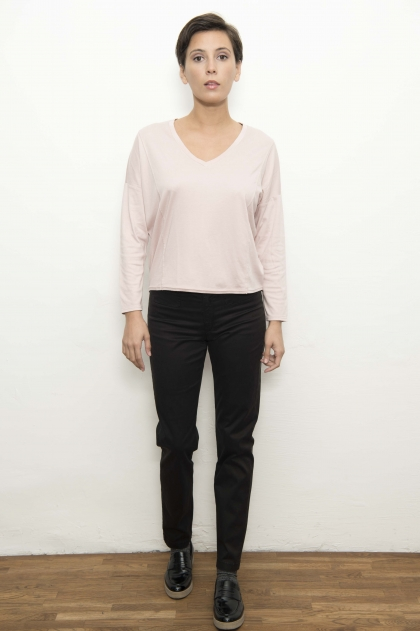 Pantalon en satin 49% lyocell 48% coton 3% elasthanne