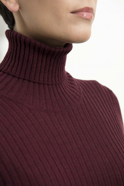 Pull chaussette col roulé 100% Pure laine vierge
