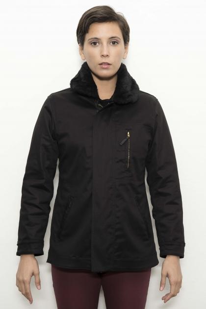 Parka jacket 49% lyocell 48% cotton 3% elastane