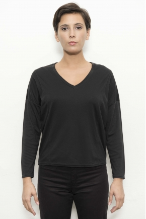 Tee-shirt maille côte 1:1 50% coton 50% modal