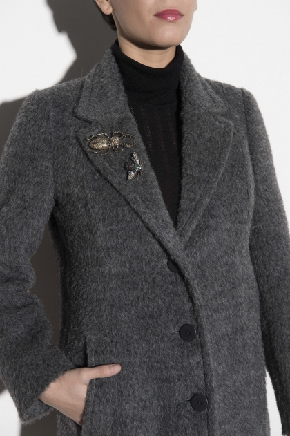 Wool coat united 56 % wool 16% mohair 16% alpaca and 12% polyester