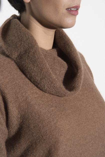 Neck Sweater fancy 70% super kid mohair 25% polyamide 5% superfine wool