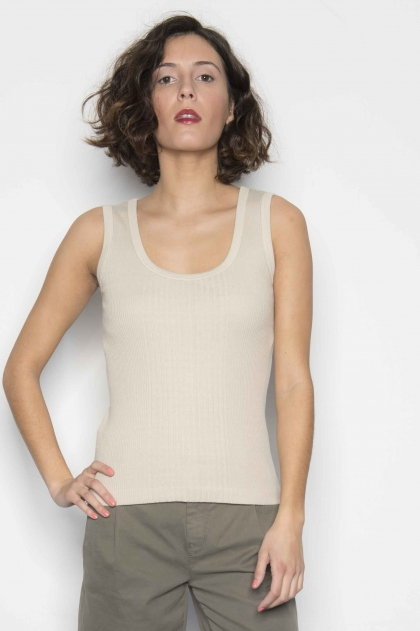 Richelieu knit tank top 100% Cotton