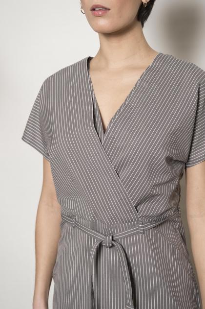 Stripe dress 72% cotton 28% silk