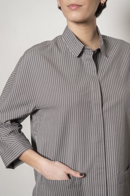 Stripe jacket 72% cotton 28% silk