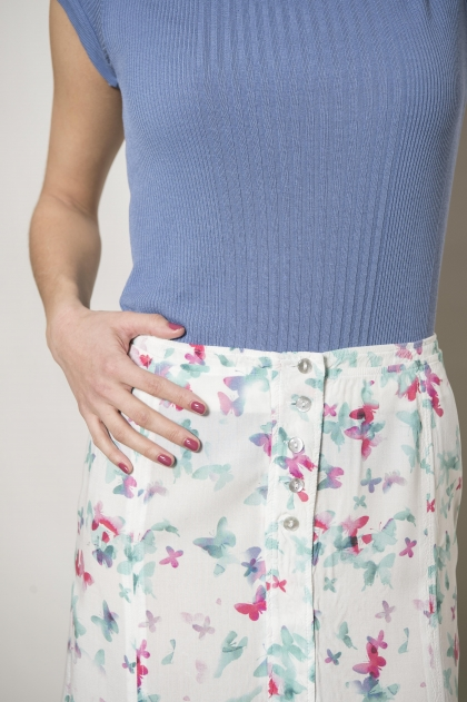 Printed voile skirt 100% viscose