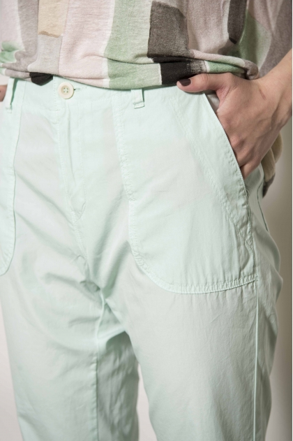 100% cotton poplin trousers