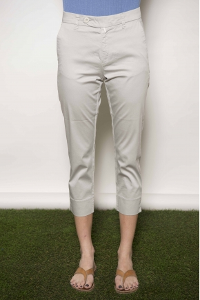 "Satin ""feather"" trousers 97% cotton 3% elastane"