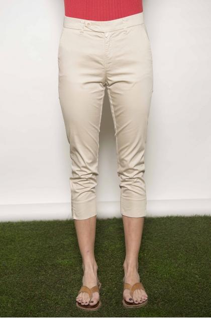 """Satin """"feather"""" trousers 97% cotton 3% elastane"""
