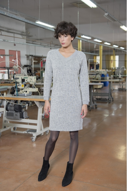 Jacquard dress 49% WOOL 30% VISCOSE 18% POLYESTER 3% CASHMERE