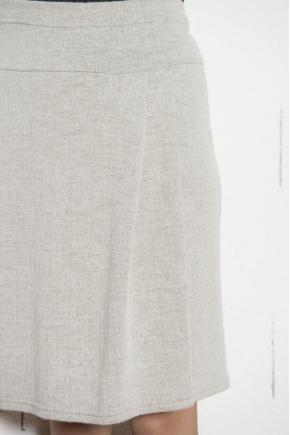 Jacquard wrap skirt 49% WOOL 30% VISCOSE 18% POLYESTER 3% CASHMERE