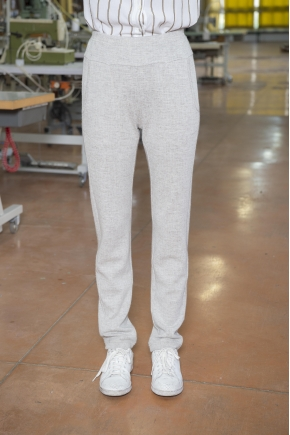 Jogg jacquard trousers 49% WOOL 30% VISCOSE 18% POLYESTER 3% CASHMERE