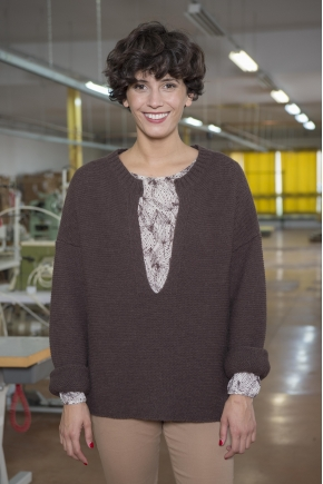 45% ACRYLIC 40% ALPACA linen knit sweater