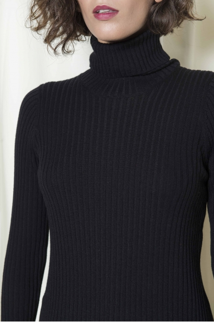 Pullover turtleneck Meshes Nap merino Pure wool 100 %