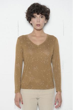 Tee shirt Jersey imprimé étoile 96% VISCOSE 4% ÉLASTHANNE