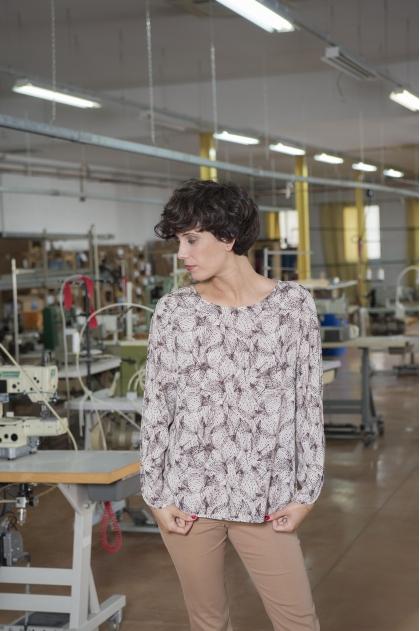 100% VISCOSE printed web T-shirt