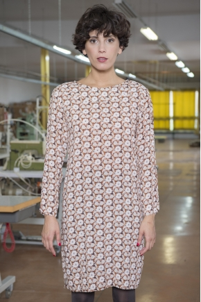 100% VISCOSE printed web dress
