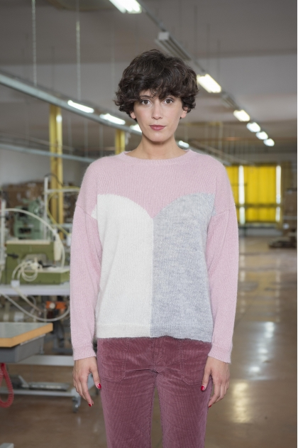 Intarsia point jumper 70% SUPERKIDMOHAIR 25% POLYAMIDE 5% EXTRA FINE VIRGIN WOOL
