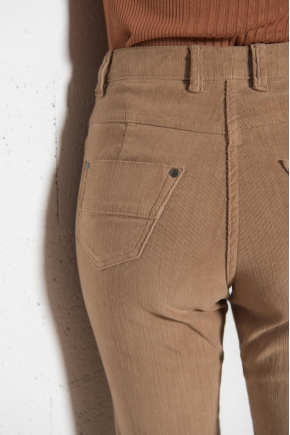 Pantalon Velours côtelé « flammé » stretch 82% COTON 18% ELASTOMULTIESTER
