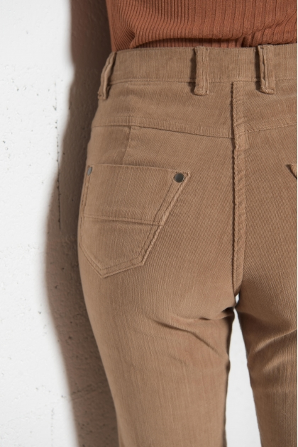 Elastomer velvet 5 pocket trousers