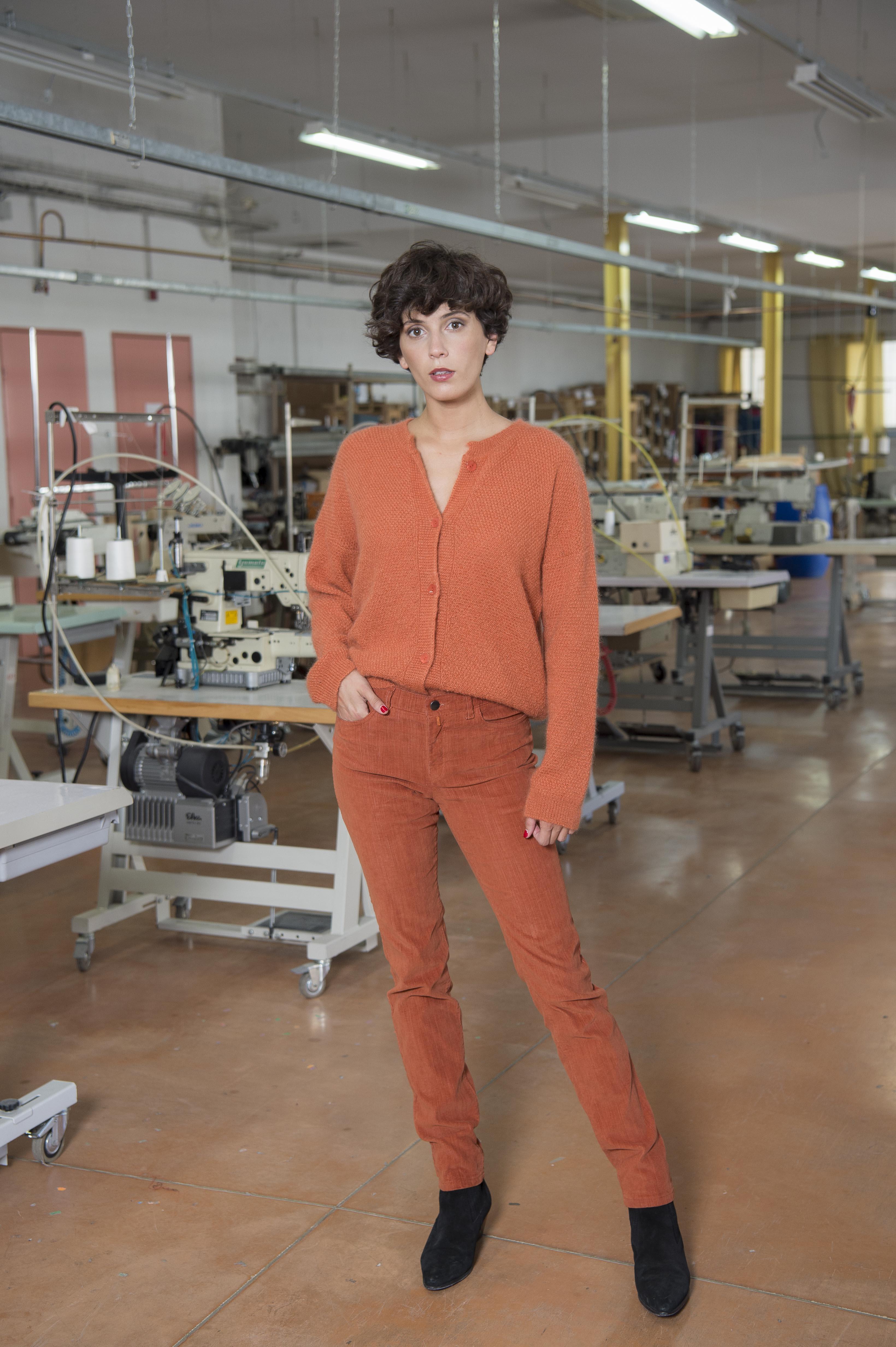 Pantalon Velours côtelé « flammé » stretch 82% COTON 18% ELASTOMULTIESTER