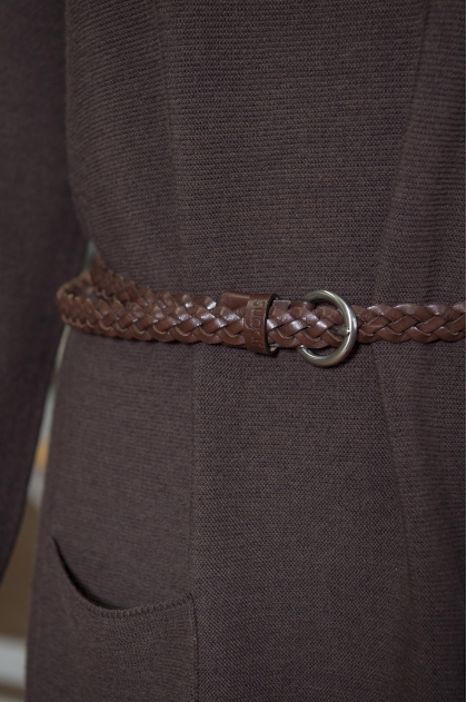 Fine belt in 100% leather