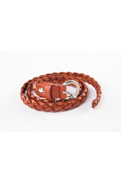 Fine belt in 100% leather