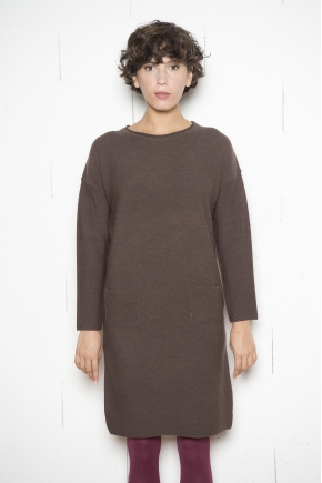 Pure Merino Wool Linxs Knitted Sweater Dress cashwool 100% MERINOS VIRGIN WOOL