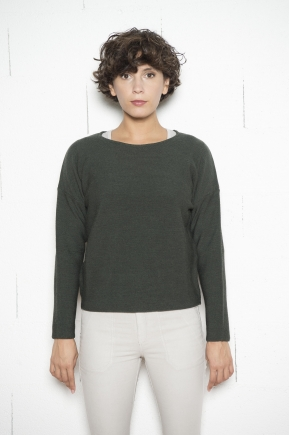 Crew-neck jumper pure merino wool treated cashwool 100% virgin wool MERINOS