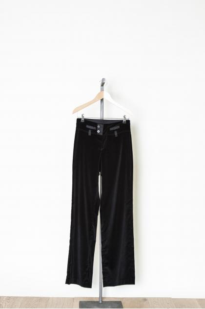 Pantalon coupe droite panne de velours